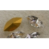 Gold Foiled Crystal - 15 x 7 mm